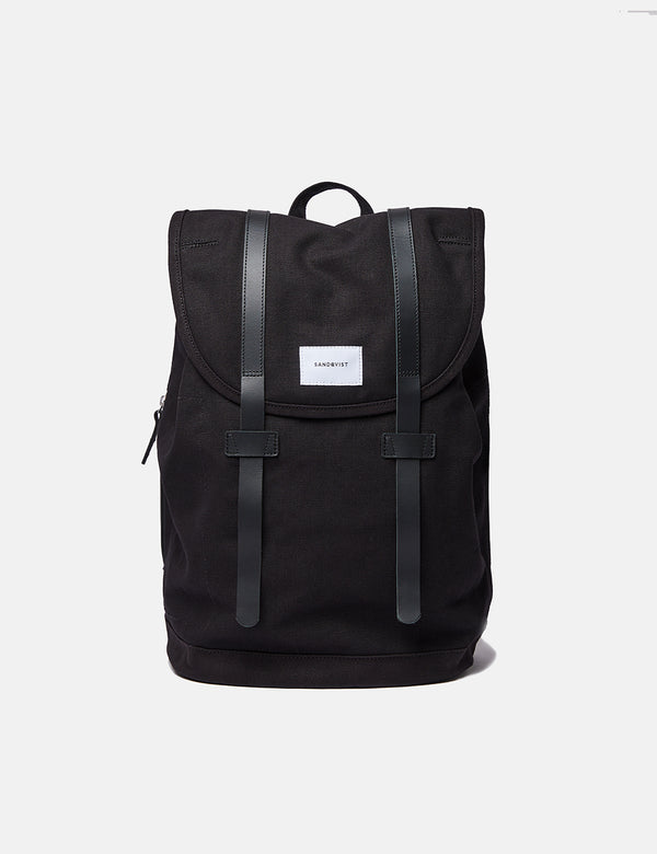 Sandqvist Stig Backpack (Large) - Black/Black