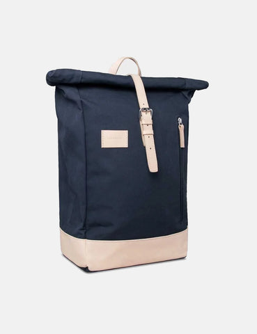 Sandqvist Dante Grand Roll Top Backpack (Canvas) - Navy Blue