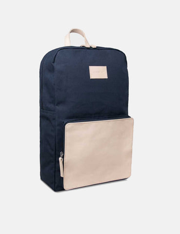 Sandqvist Kim Grand Backpack (Canvas) - Navy Blue