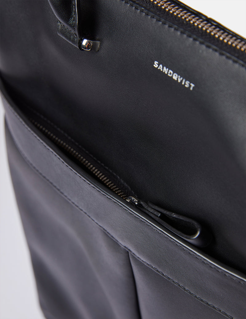 Sandqvist Andreas Tote Bag (Leather) - Black