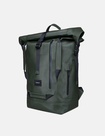 Sandqvist William Roll Top Backpack - Green