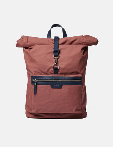 Sandqvist SIV Backpack (Roll Top)- Maroon/Navy Blue