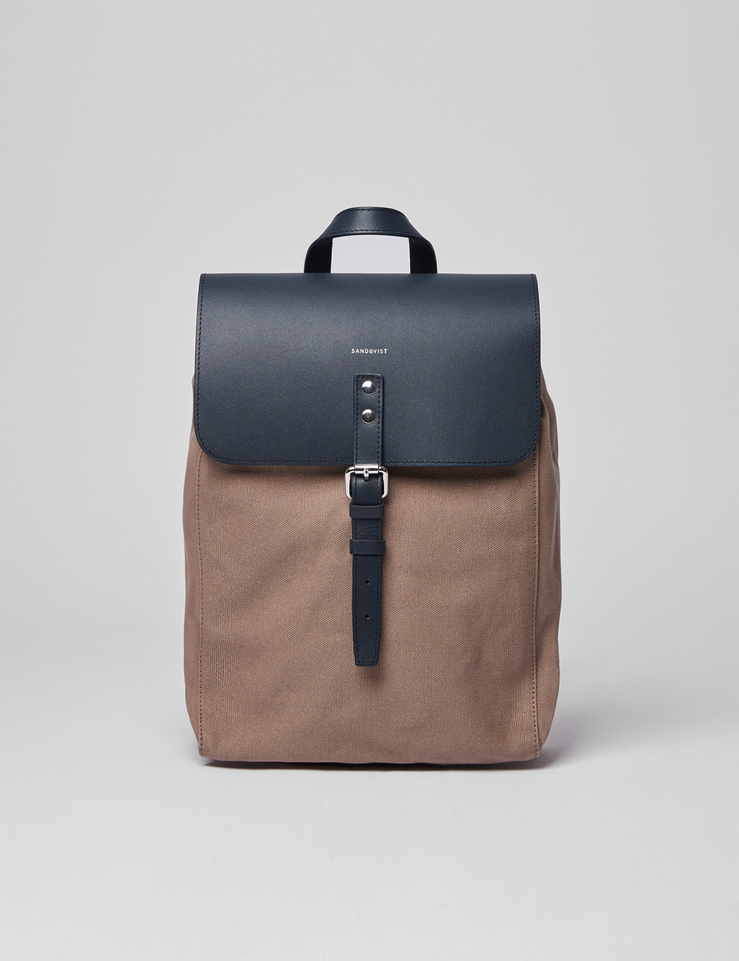 Sandqvist Alva Backpack - Earth Brown/Navy Blue