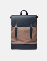 Sandqvist Hege Backpack - Earth Brown/Navy Blue
