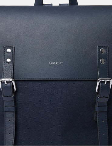Sandqvist Hege Backpack - Navy Blue/Navy Blue
