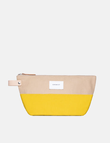 Sandqvist Cleo Wash Bag - Yellow/Beige