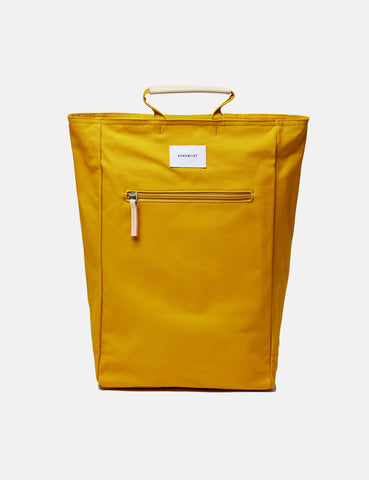 Sandqvist Tony Tote Bag (Canvas) - Yellow/Natural