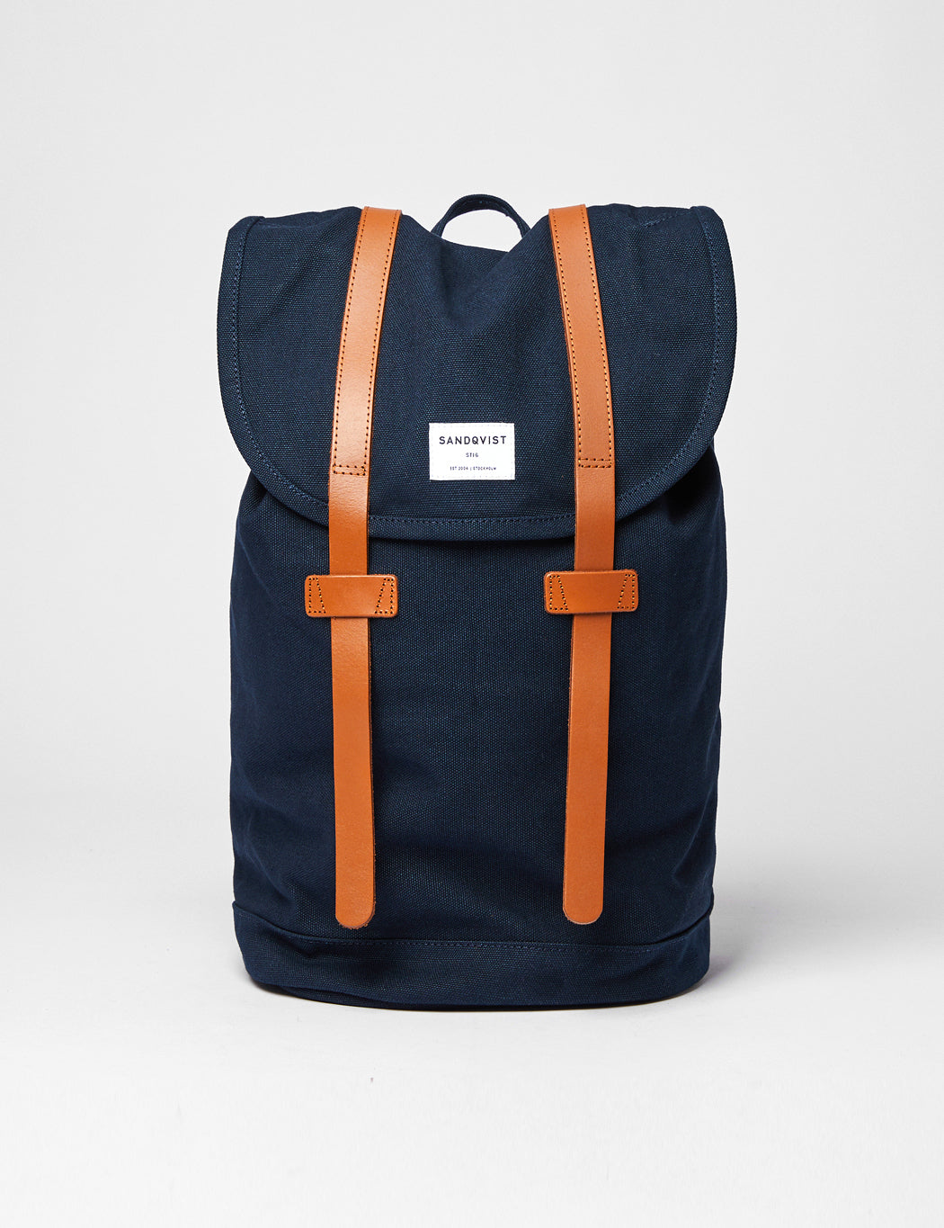 Sandqvist Stig Backpack (Canvas) - Navy Blue