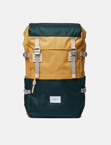 Sandqvist Harald Backpack - Honey Yellow/Dark Green