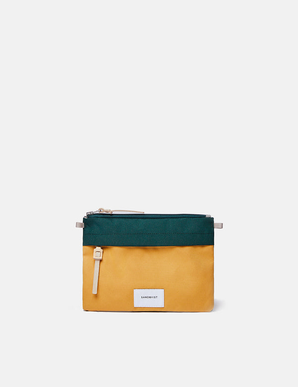 Sandqvist Ludvig Wallet (Cordura) - Green/Yellow