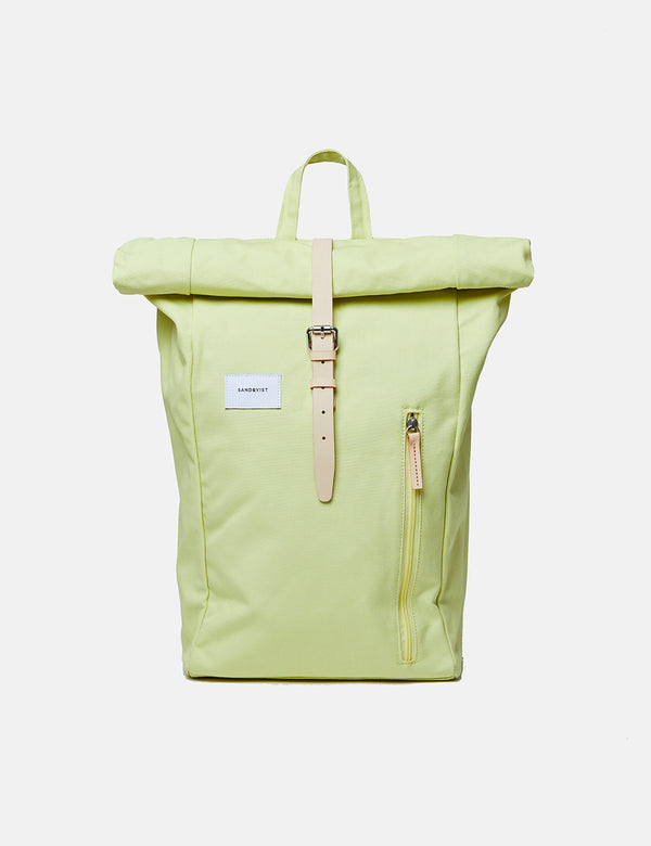 Sandqvist Dante Roll Top Backpack - Lemon