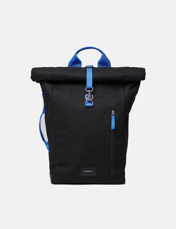 Sandqvist Dante Metal Hook Roll Top Backpack - Black