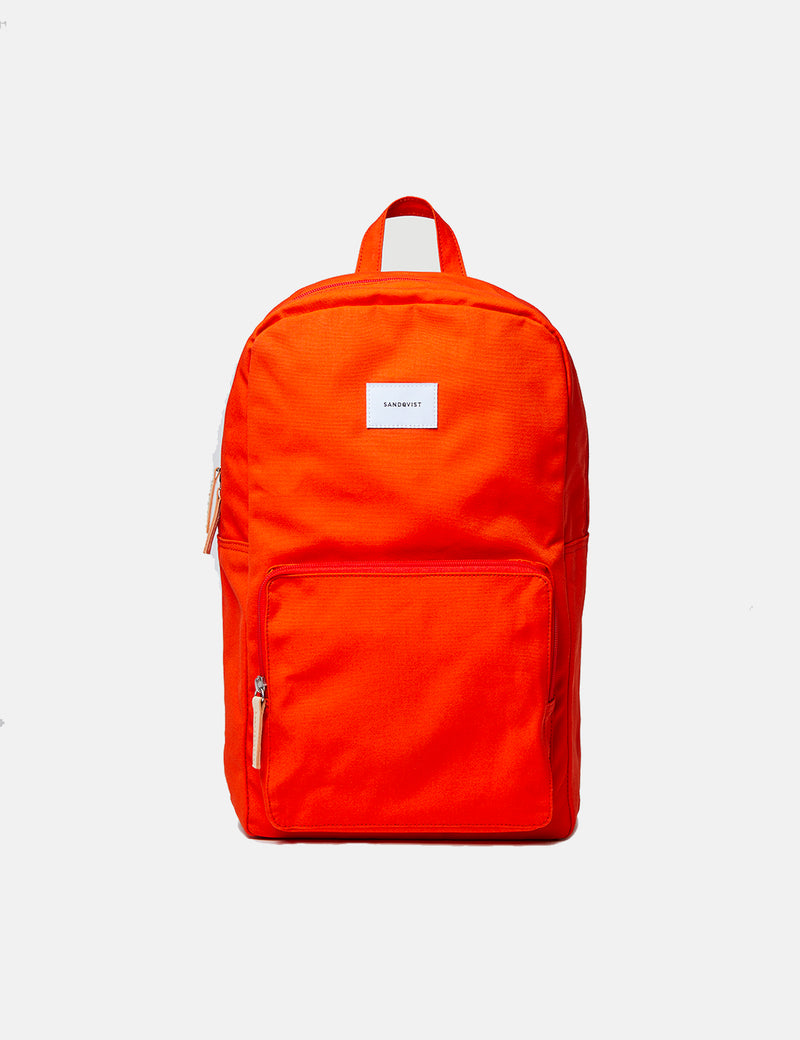 Sandqvist Kim Ground Backpack (Canvas) - Poppy Red