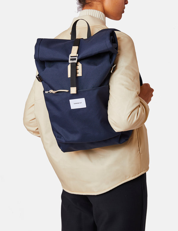 Sandqvist Ilon Backpack - Navy Blue