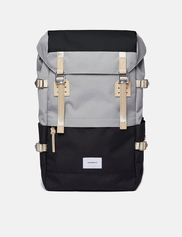 Sandqvist Harald Backpack - Multi Grey/Black