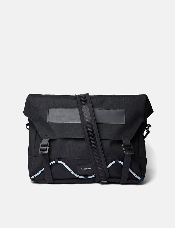 Sandqvist Gabriel Messenger Bag - Black