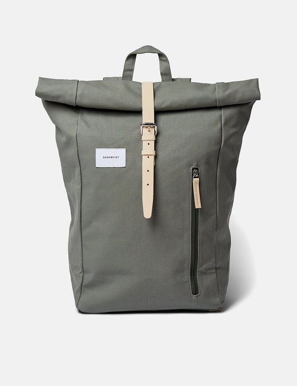 Sac à Dos Sandqvist Dante - Dusty Green/Natural Leather