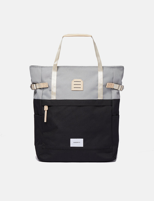 Sandqvist Roger Backpack - Grey/Black/Natural Leather