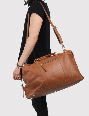 Sandqvist Jordan Holdall Bag (Leather) - Cognac Brown