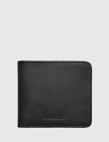Sandqvist Bill Bi-Fold Wallet (Leather) - Black