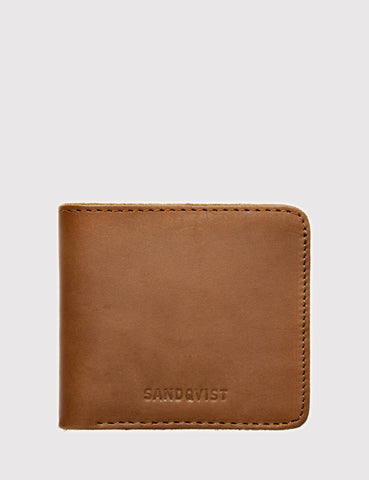 Sandqvist Bill Bi-Fold Wallet (Leather) - Cognac Brown