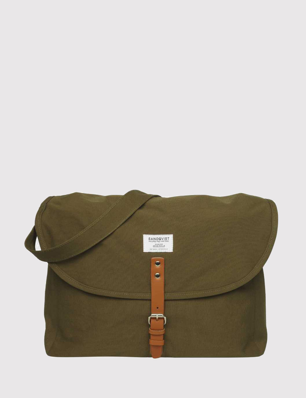 Sandqvist Jack Ground Messenger Bag - Olive