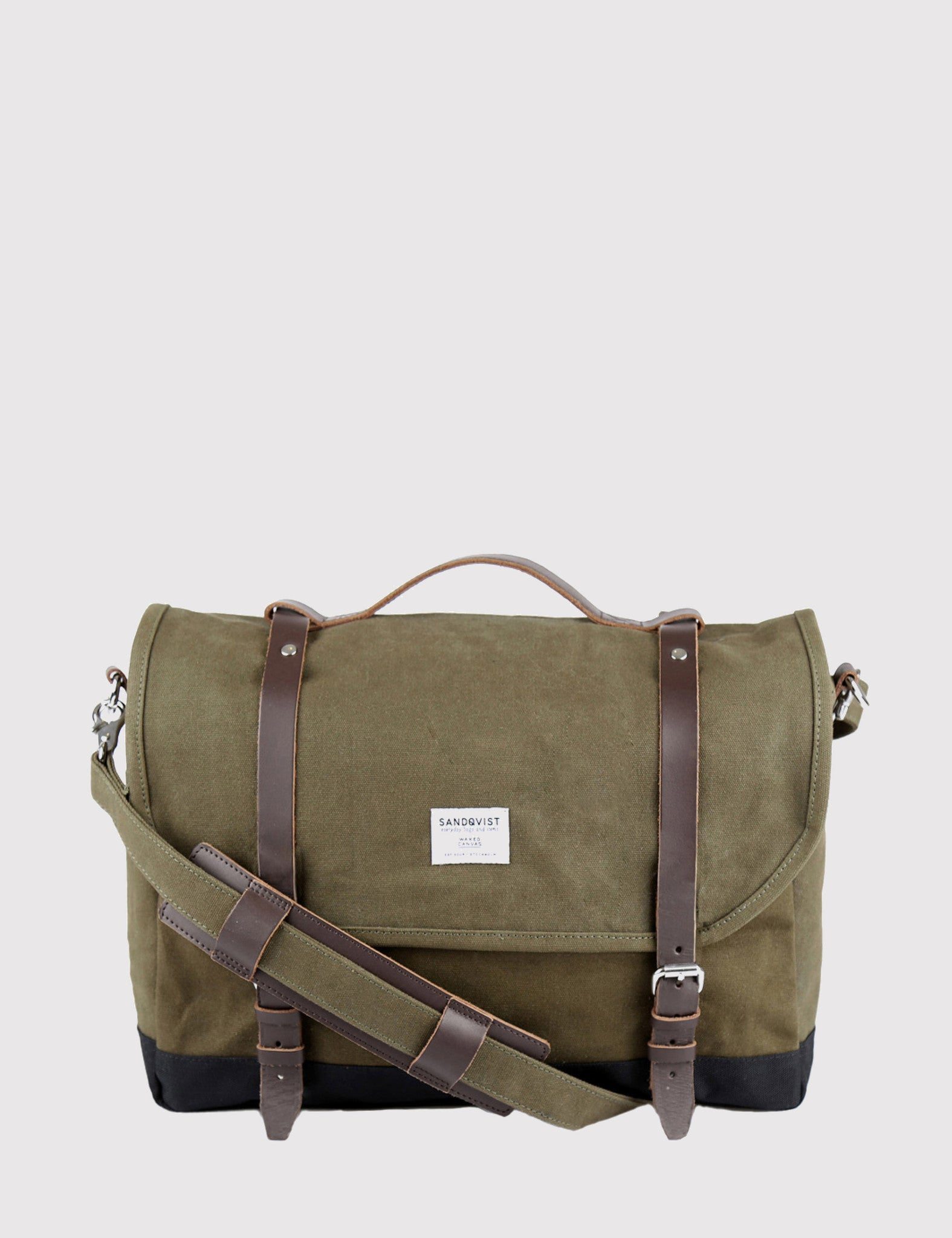 Sandqvist Izzy Backpack (Waxed) - Olive Green