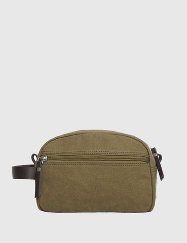 Sandqvist Mickel Wash Bag - Waxed Olive