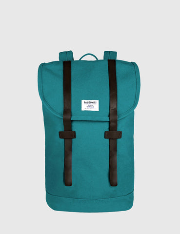 Sandqvist Stig Backpack (Canvas) - Petrol Blue