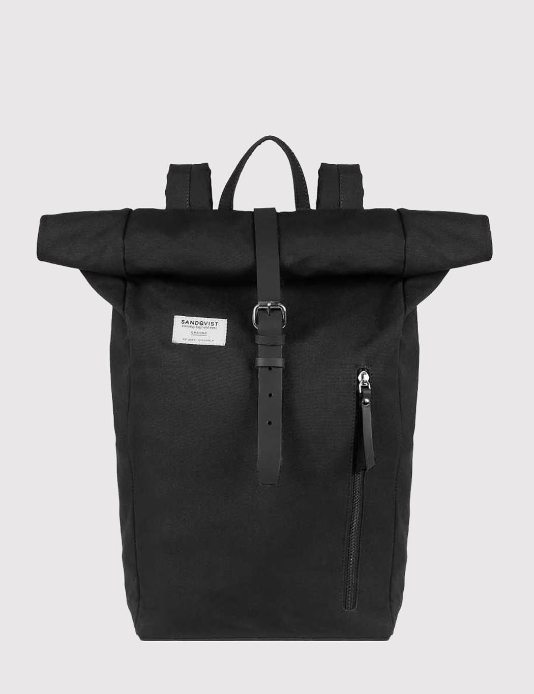 Sandqvist Dante Roll Top Backpack (Canvas) - Black
