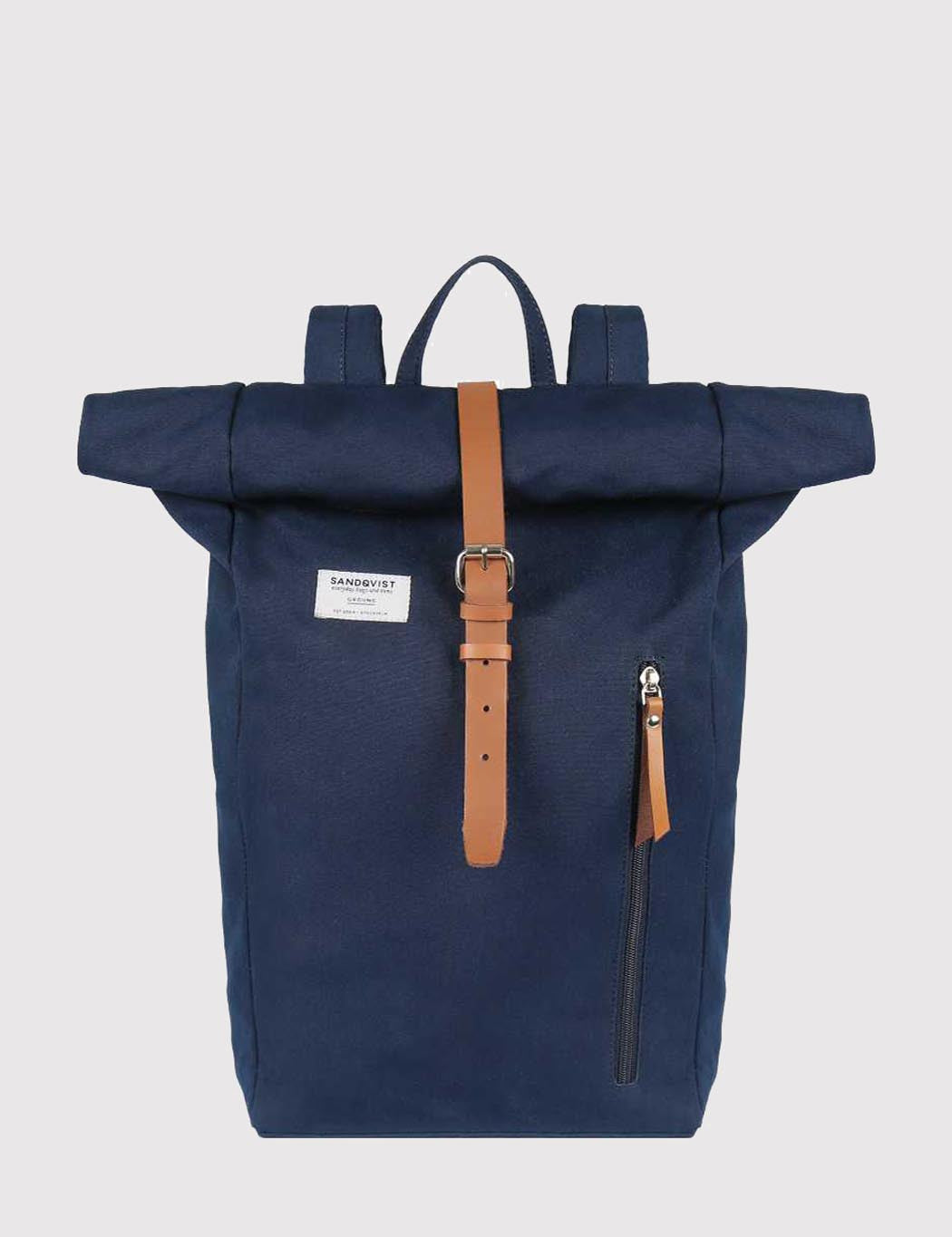Sandqvist Dante Roll Top Backpack (Canvas) - Blue