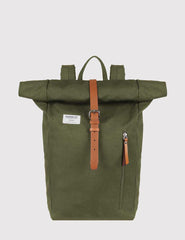Sandqvist Dante Roll Top Backpack (Canvas) - Olive