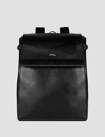 Sandqvist Monica Backpack (Leather) - Black