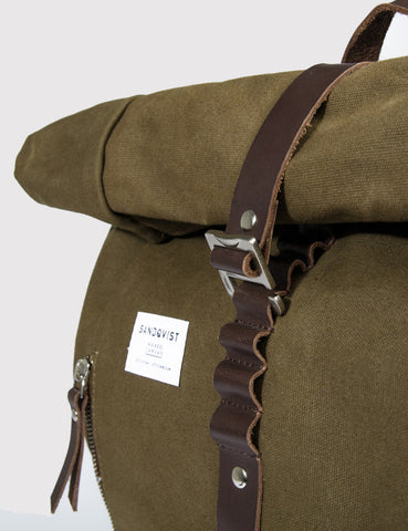 Sandqvist Rolf Backpack - Waxed Olive