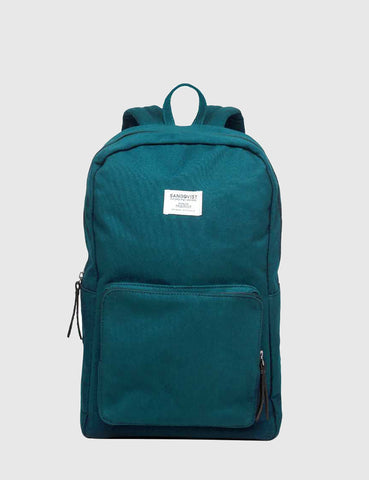 Sandqvist Kim Ground Backpack (Canvas) - Petrol Blue