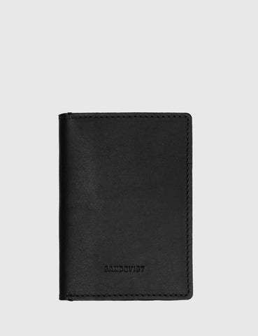 Sandqvist Dow Slim Bi-Fold Wallet (Leather) - Black