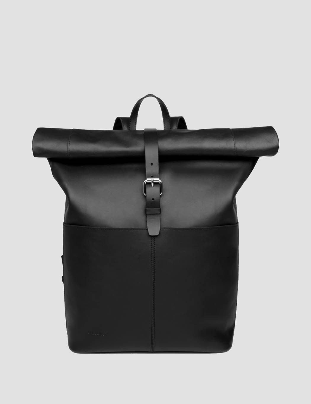 Sandqvist Antonia Rolltop Backpack (Leather) - Black