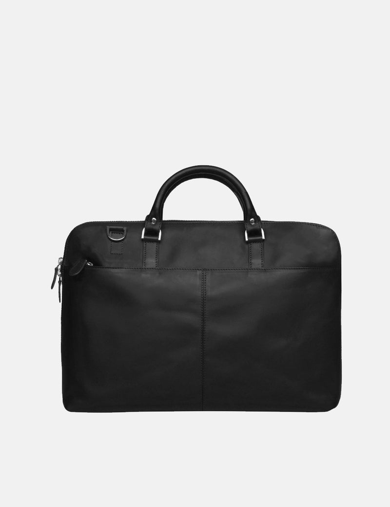 "Sandqvist Dustin Briefcase 13"" (Leather) - Black"