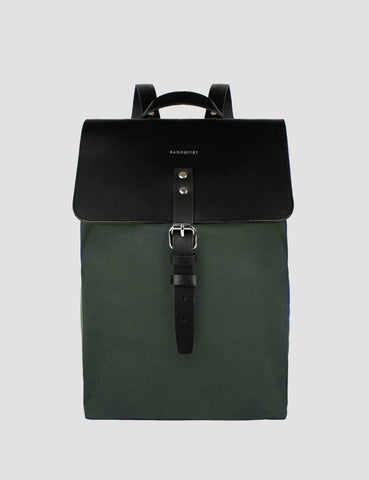 Sandqvist Alva Backpack (Canvas) - Beluga Green