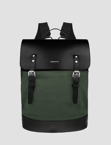Sandqvist Hege Backpack (Canvas) - Beluga Green