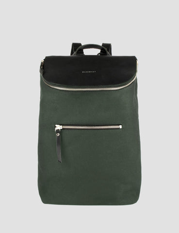 Sandqvist Mika Backpack (Canvas) - Beluga Green