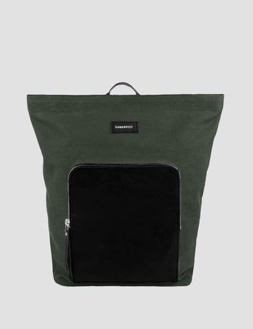 Sandqvist Misha Backpack (Canvas) - Beluga Green
