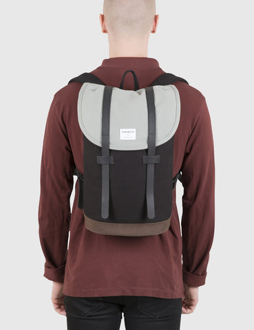 Sandqvist Stig Backpack (Canvas) - Black/Grey