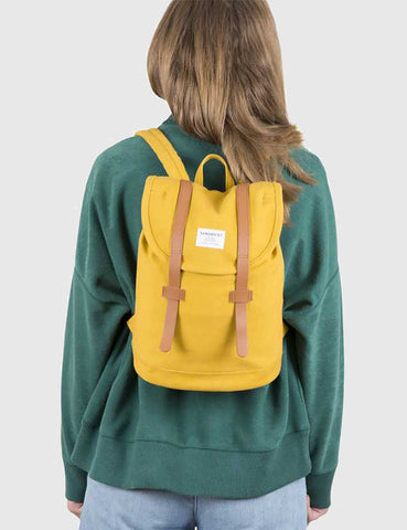 Sandqvist Stig Mini Backpack (Canvas) - Yellow