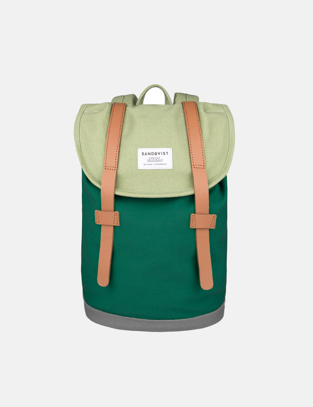 Sandqvist Stig Mini Backpack (Canvas) - Forest Green/Sage | URBAN EXCESS.