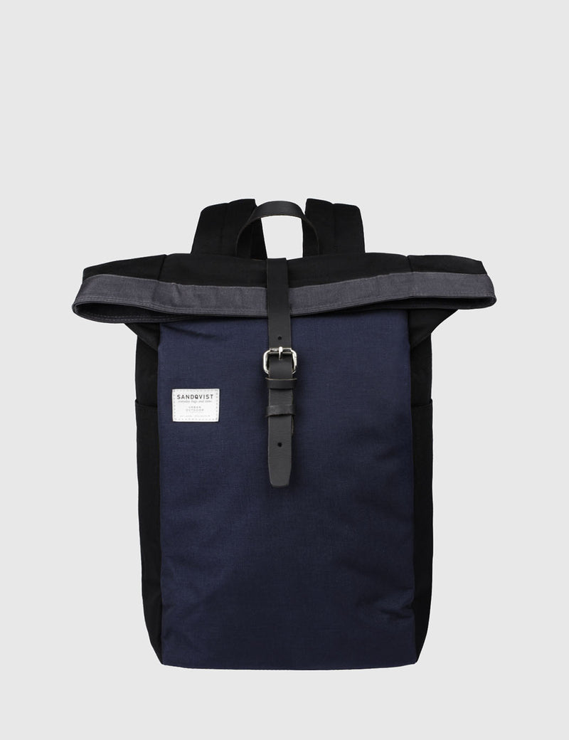 Sandqvist Silas Backpack (Canvas) - Multi/Black/Blue/Grey