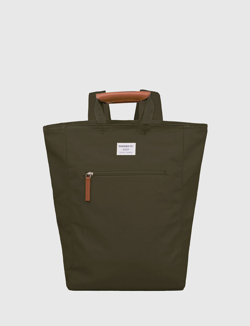 Sandqvist Tony Tote Bag (Canvas) - Olive Green