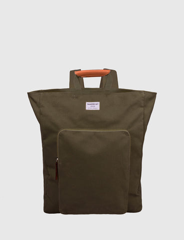 Sandqvist Sasha Tote Bag (Canvas) - Olive Green