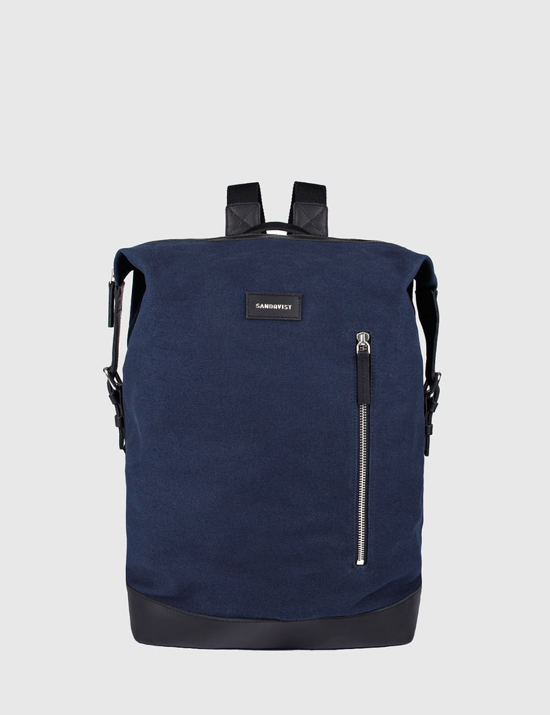 Sandqvist Adam Backpack (Canvas) - Blue