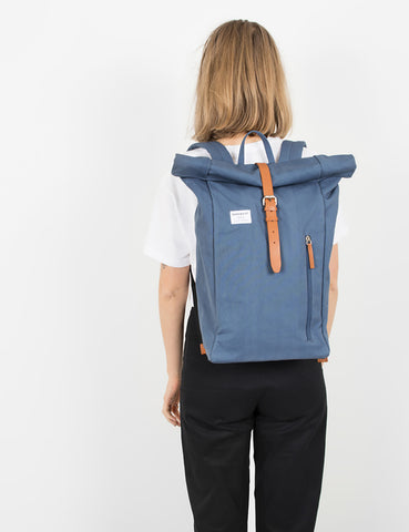 Sandqvist Dante Roll Top Backpack - Dusty Blue